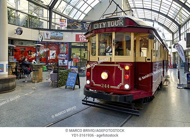 Historic vintage tram in Christchurch New Zealand