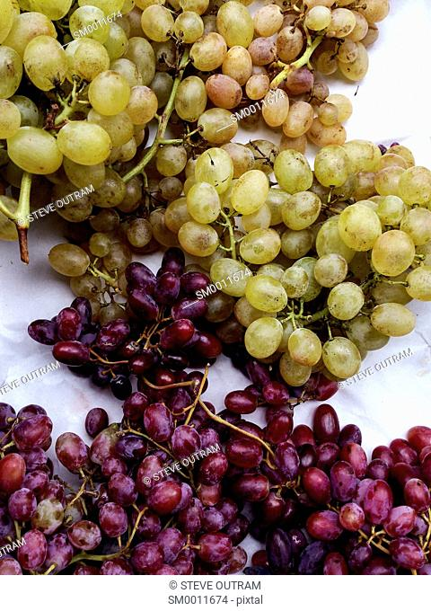 Display of Grapes at a Greengrocers, Crete, Greece