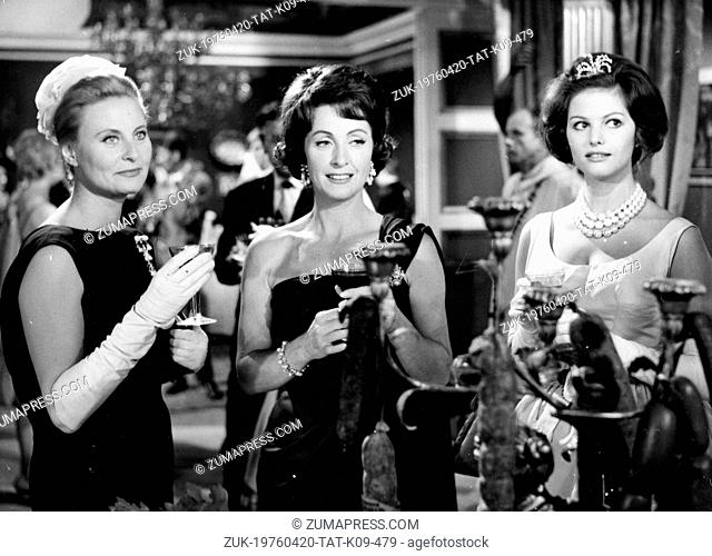 July 5, 1961 - Paris, France - Actresses MICHELE MORGAN, DANIELLE DARRIEUX and CLAUDIA CARDINALE co-star in a scene from the film