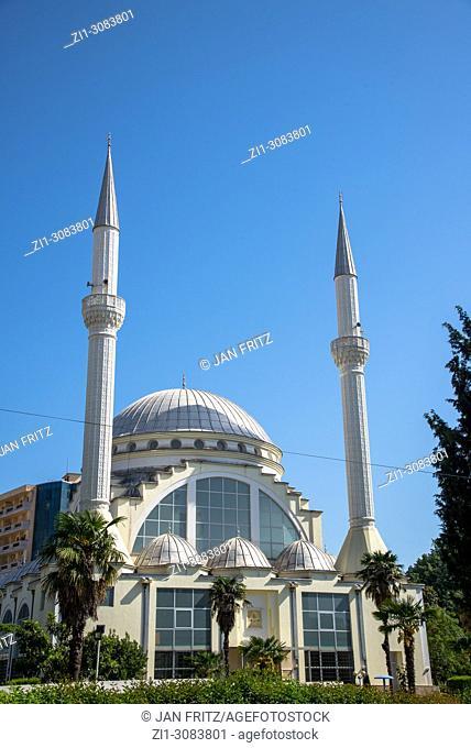 famous Xhamia e Madhe mosque in Skhodra, Albania