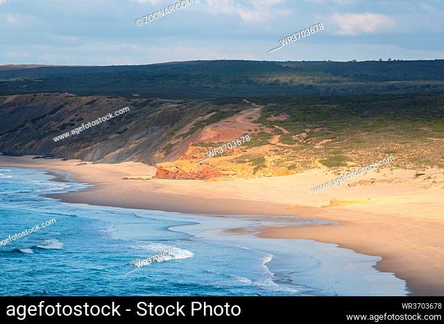 Praia da Bordeira beach in Costa Vicentina, Portugal