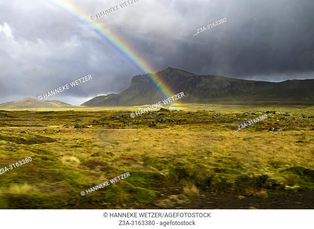 Rainbow at Snaefellsnes peninsula, Iceland