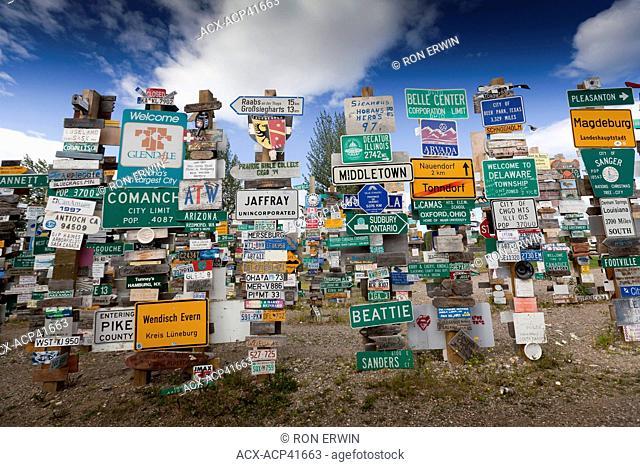 The Signpost Forest, Watson Lake, Yukon Territory, Canada