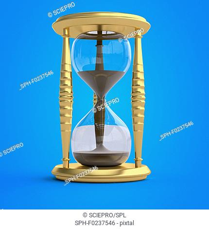 Illustration of an hour glass