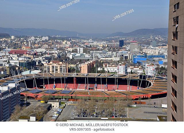 "The """"Letzigrund"""" Sport-Station in Zürich City, where the International Lightatlhletic championsship takes place"