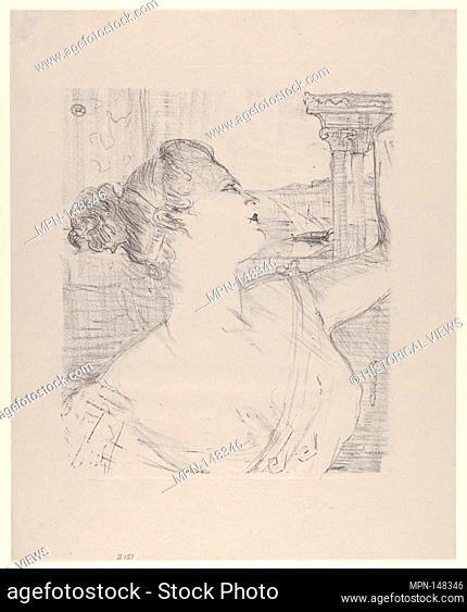 Sybil Sanderson. Series/Portfolio: PORTRAITS OF ACTORS AND ACTRESSES; Artist: Henri de Toulouse-Lautrec (French, Albi 1864-1901 Saint-André-du-Bois); Date:...