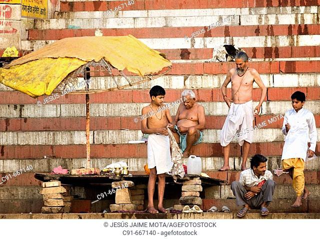 Ghats, Varanasi. Uttar Pradesh, India