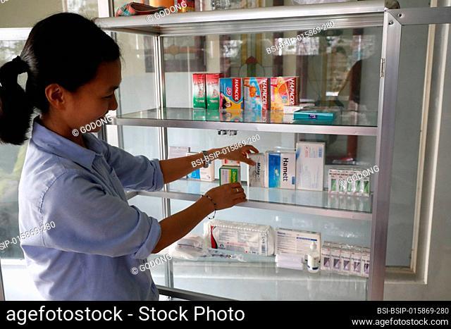 French NGO Chaine de l'Espoir. Children's pavilion. Pharmacy. Ho Chi Minh City. Vietnam