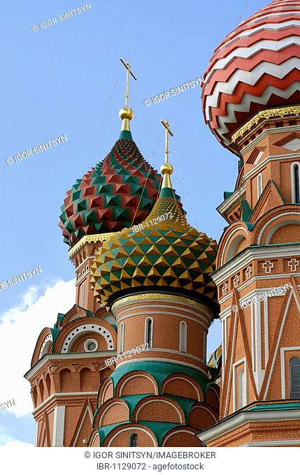 Domes of the St Basil Cathedral, Moscow, Russia