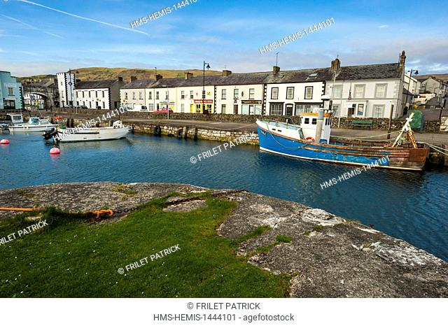 United Kingdom, Northern Ireland, County Antrim, Carnlough Harbour