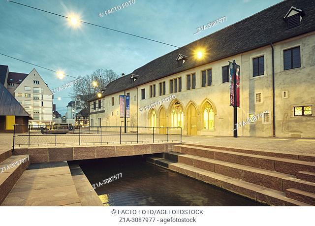 The Unterlinden Museum main entrance after the recent extension designed by architects Herzog & de Meuron. Colmar. Alsace. Grand Est. France