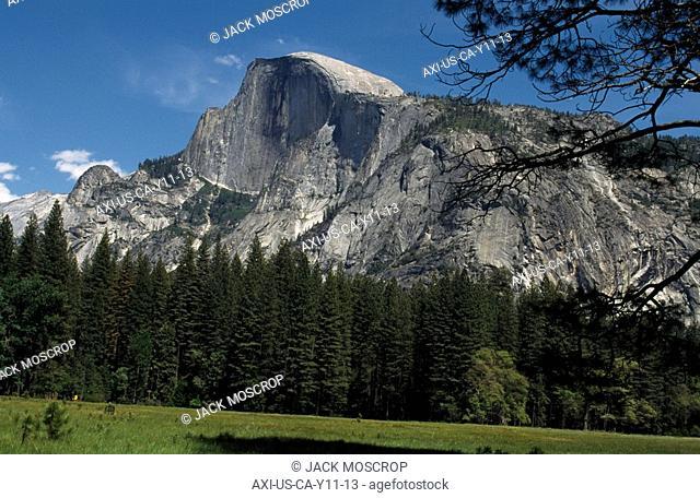 Halfdome from Yosemite Valley , Yosemite National Park, California, USA