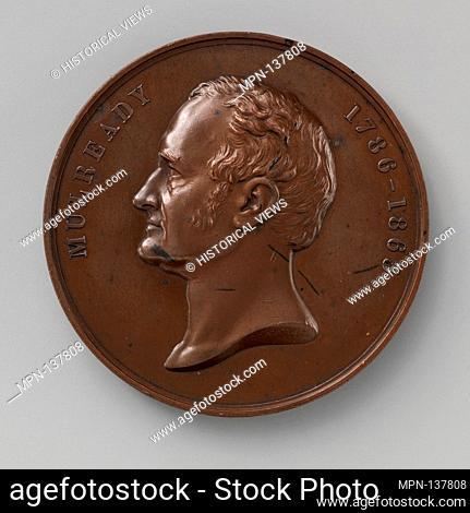 Art-Union medal of William Mulready. Artist: Medalist: George Gammon Adams (British, Staines 1821-1898 Chiswick); Date: 1877; Culture: British; Medium: Bronze;...