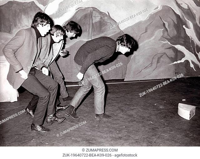 Dec 23, 1964; London, England, UK; File Photo. The Beatles: JOHN LENNON, GEORGE HARRISON, RINGO STARR, PAUL MCCARTNEY practice for their Christams Show at...