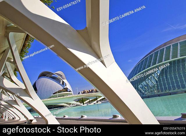 Hemisferic and Palace of Arts Reina Sofía, City of Arts and Sciences, Valencia Comunity, Valencia, Spain, Europe