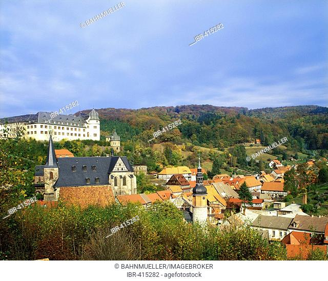 Stolberg Harz Saxony-Anhalt Germany castle and old town