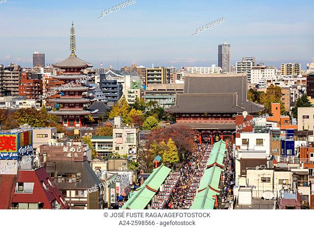 Japan, Tokyo City, Asakusa District, Sensoji Temple,Nakamise Dori Street