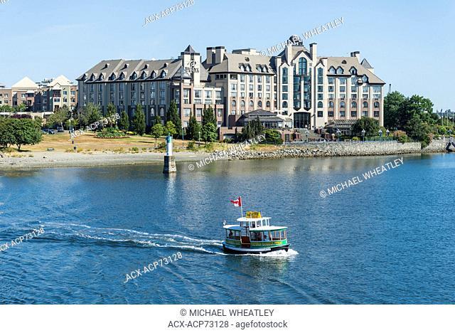 Passenger ferry, Inner Harbour, Victoria, Vancouver Island, British Columbia, Canada