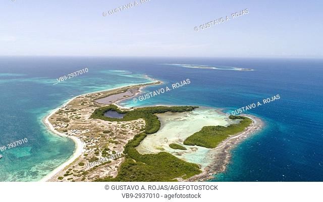 Aerial View, crasky, crasqui Archipelago, Los Roques, Los Roques - Venezuela