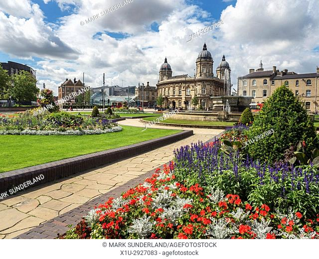 Hull Maritime Museum from Queens Gardens Hull Yorkshire England