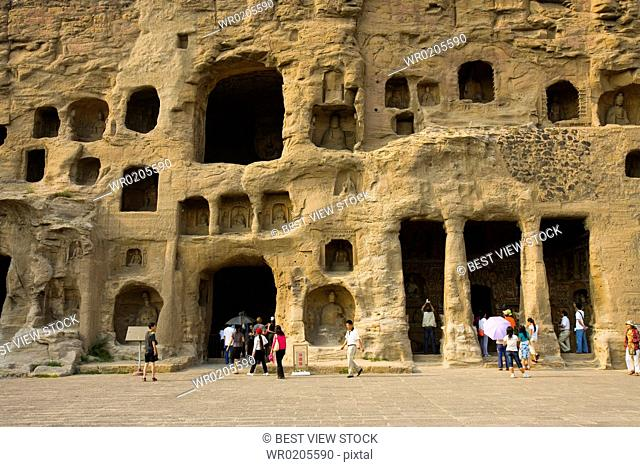 Yungang Grottoes in Shanxi Province