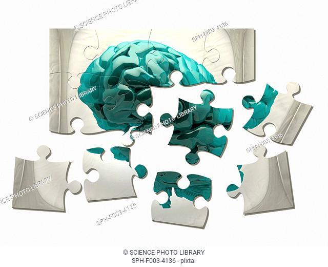 Brain analysis, conceptual computer artwork