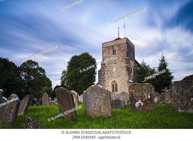 St Andrew's church in Steyning, West Sussex, England