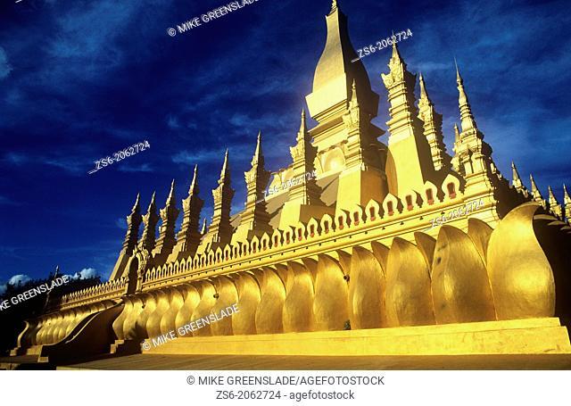 The Golden Stupa, Wat That Luang, Vientiane, Laos