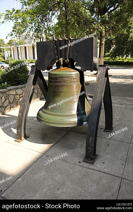 Exact Replica of the famous Liberty Bell located at the state capital city and grounds of North Carolina