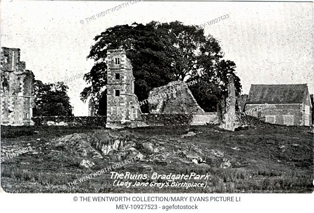 Bradgate Park, Newtown Linford, near Leicester, Leicestershire ?, England. Showing the ruins