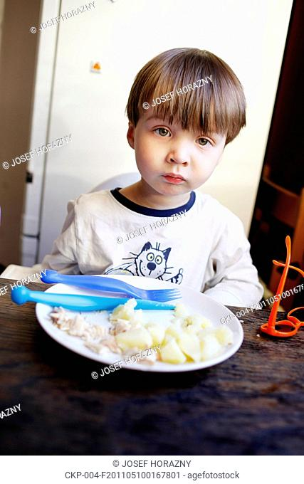 boy, baby, kid, child, childhood, foof, feed, snack, dinner, lunch, dish, eating, meal, eat