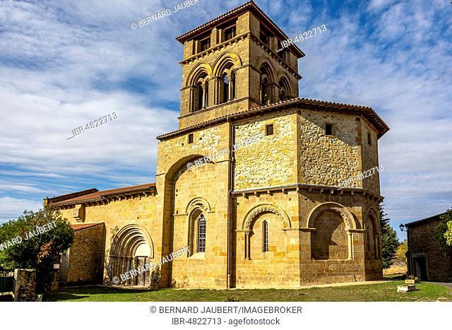 Romanesque church of Mailhat, Department Puy de Dome, Auvergne Rhone Alpes, France