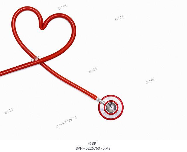 Stethoscope in a heart shape