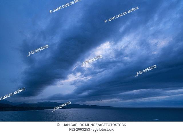View from Cabo Busto, Luarca, Valdes Council, Cantabrian Sea, Asturias, Spain, Europe