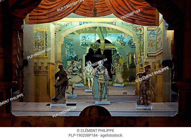 19th century toy theater / paper theater / paperboard model theater / cardboard miniature theatre
