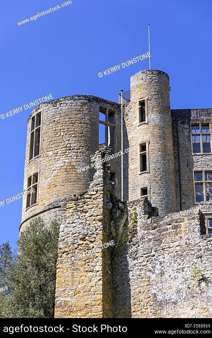 Europe, Luxembourg, Grevenmacher, Beaufort Castle (Detail of Renaissance Building)