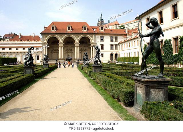 Avenue of sculptures Wallenstein Palace and Garden Prague