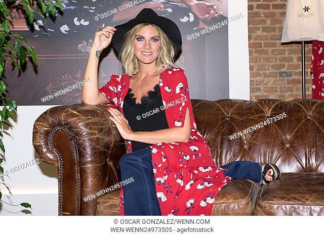 Amaia Salamanca attends a photocall as she is announced as Amichi new image Featuring: Amaia Salamanca Where: Madrid, Spain When: 06 Jul 2016 Credit: Oscar...