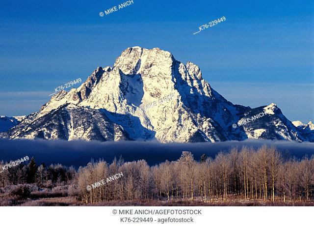 Mount Moran. Grand Teton National Park. Wyoming. USA