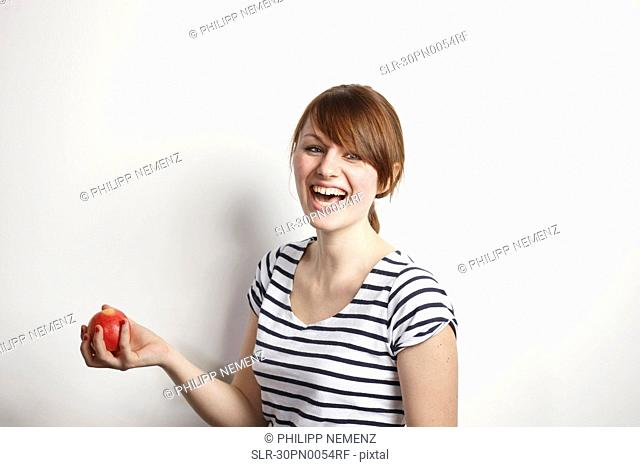 Women with Apple laughing