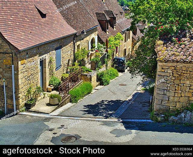 Rue Porte de la Combe, Domme, Dordogne Department, Nouvelle Aquitaine, France