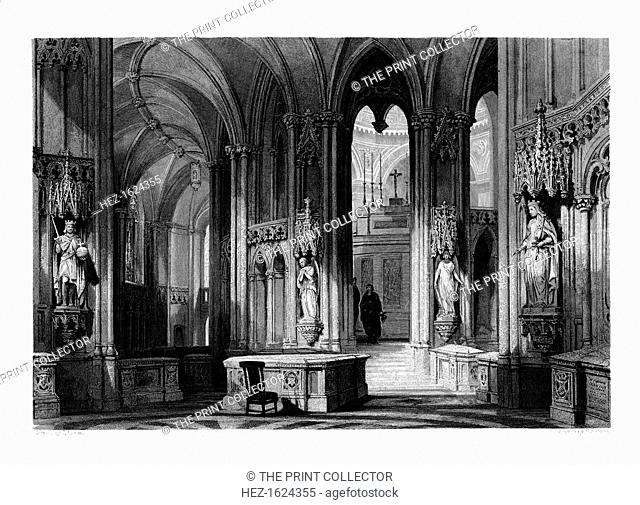 Mausoleum of the Orleans family, Chapel of Dreux, France, 1875. For many centuries the House of Orleans was one of the most important noble families in France