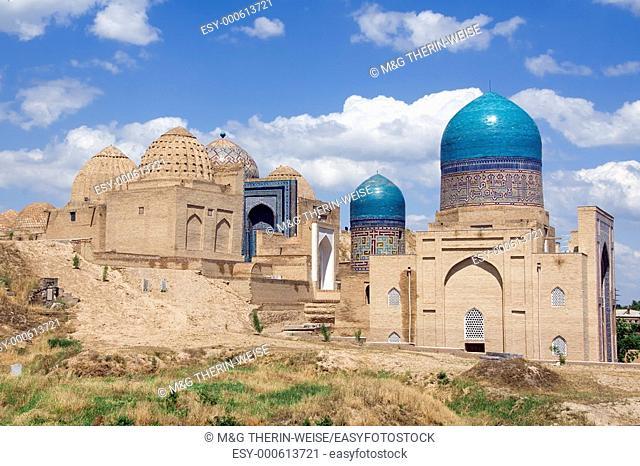 Kasisade Rumi Mausoleum, Shahr-I-Zindah Shahi Sinda necropolis, Samarkand, Uzbekistan, UNESCO World Heritage Site