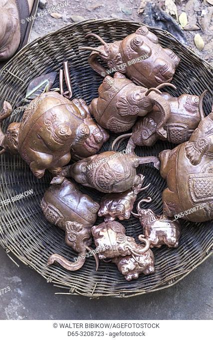 Cambodia, Siem Reap, Artisans Angkor, traditional craft workshop, traditional metal work, NR