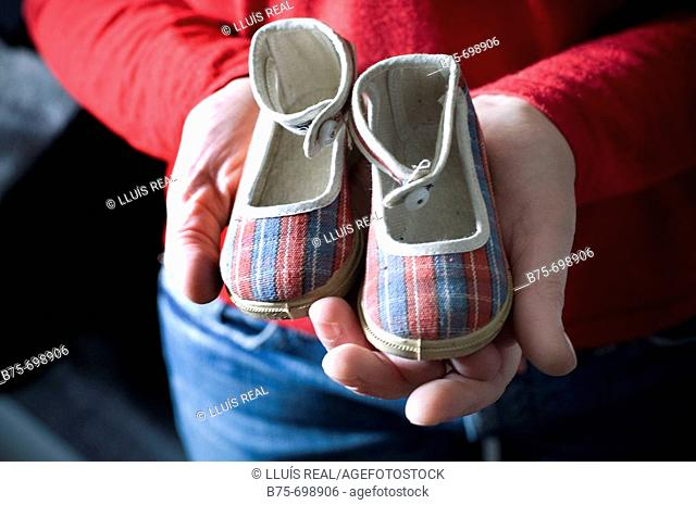 Old tiny shoes