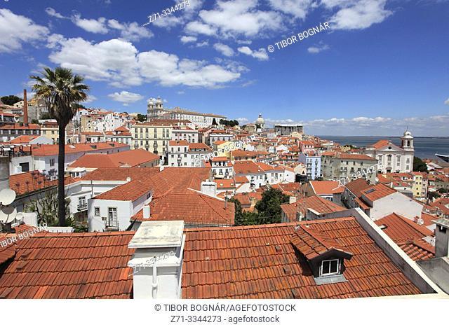 Portugal, Lisbon, Alfama, skyline, general view, panorama,