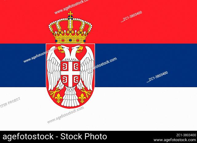 National flag of the Republic of Serbia