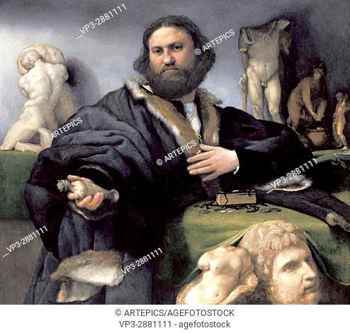 Lorenzo Lotto . Portrait of Andrea Odoni . 1527. National Gallery London
