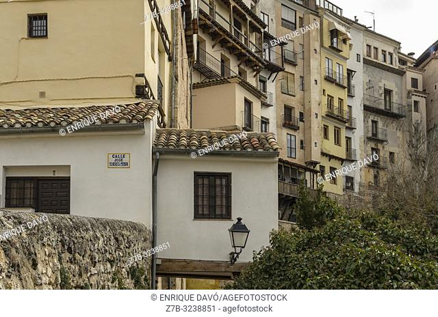 View of a white houses from Cuenca old town