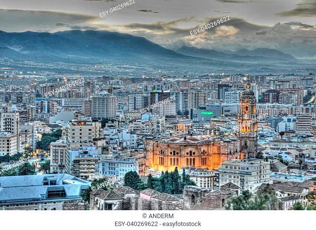 City of Malga, Spain in HDR